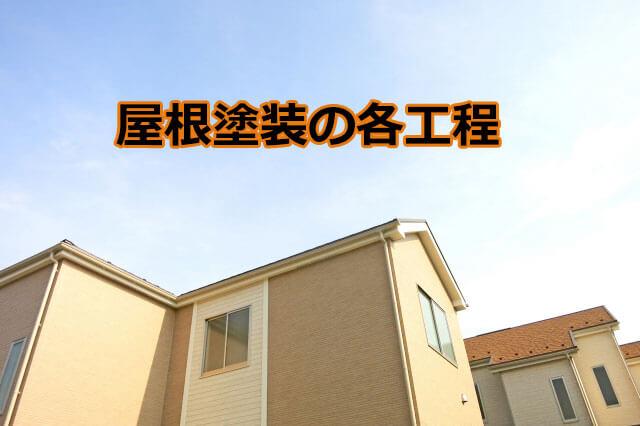 屋根塗装 工程について