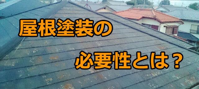 屋根塗装の必要性や行わなければいけない理由とは?