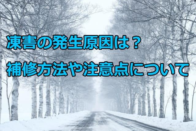 外壁に発生する凍害の原因と補修方法と注意点について