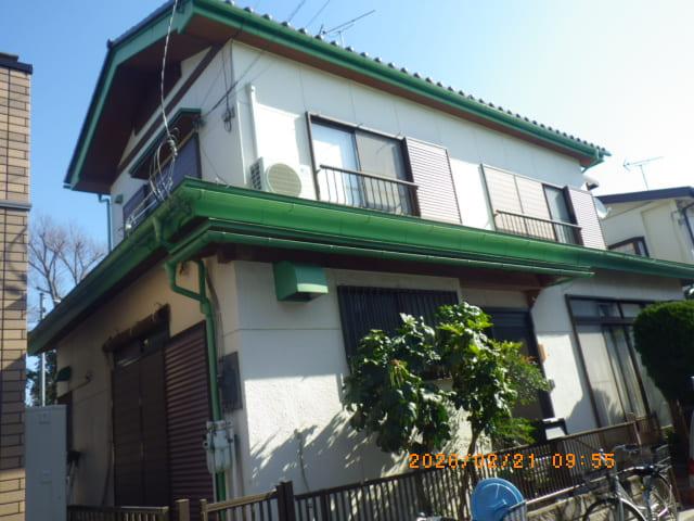 埼玉県春日部市のU様邸の外壁塗装前