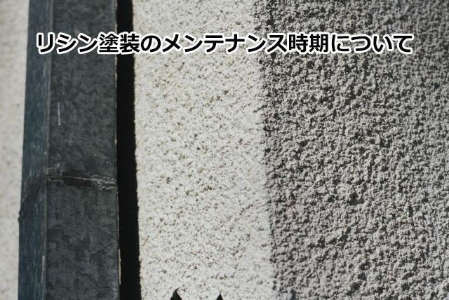 リシン塗装のメンテナンス時期のポイントについて